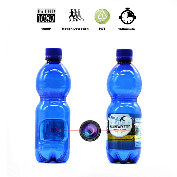 Water Bottel Hidden Spy Camera, 1080P HD Blue Bottle Portable Camera with Motion Detection