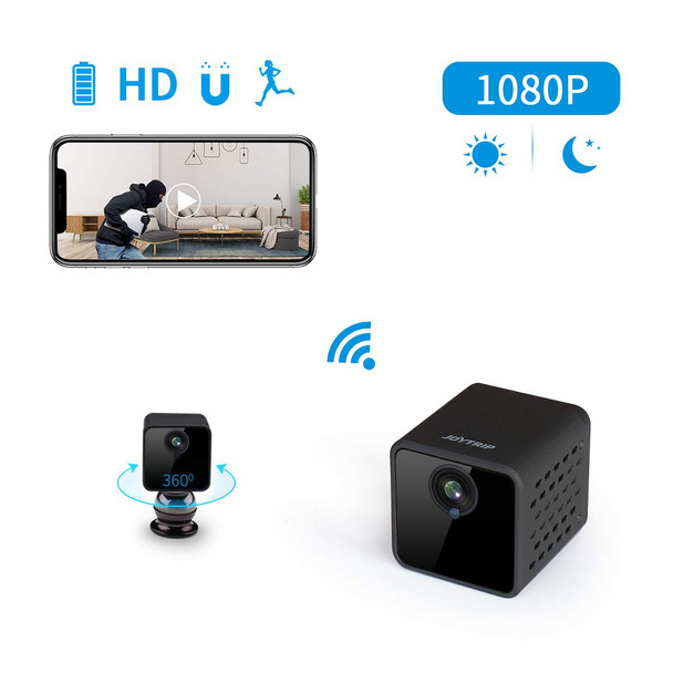 WiFi  Wireless HD 1080P Large Capacity Battery Surveillance Camera with Cell Phone App/Motion Detection/Night Vision for iPhone/Android