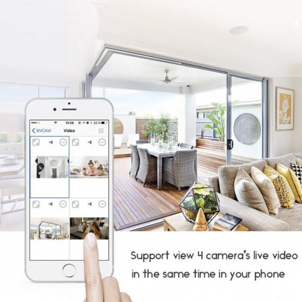 1080P HD WiFi + SD Camera Wall Clock