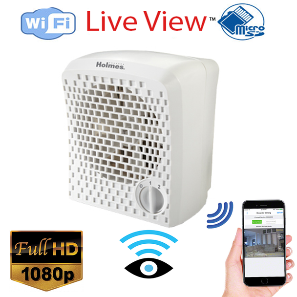 Air Cleaner Covert Hidden Spy Security Camera W/ Wireless Streaming Video for PC, Tablet & more