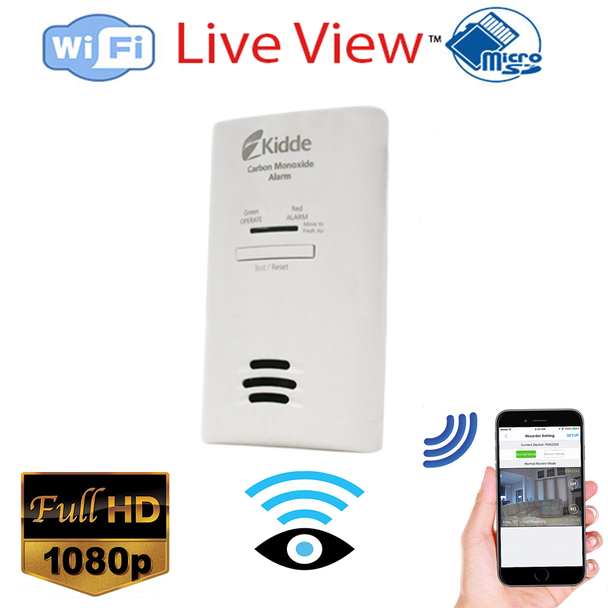 CO2 Detector Covert Hidden Spy Security Camera W/ Wireless Streaming Video for PC, Tablet & more