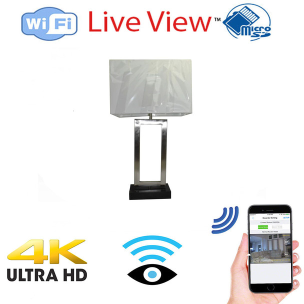 Lamp Camera - 4K Ultra Hd  WiFi-W/ Wireless Streaming Video for PC, iPhone Tablet & more