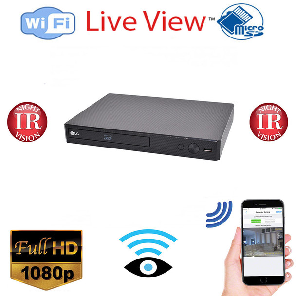 BluRay Player WiFi  Spy Nanny Camera  - Night Vision HD 1080P Wireless Security Camera with Remote Monitoring