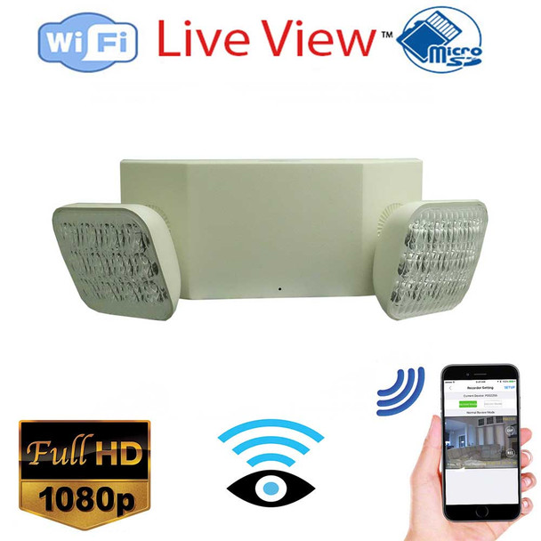 WiFi Security Camera Emergency Light-HD 1080P Wireless Security Camera with Remote Monitoring