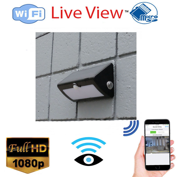 WiFi Security Spy Nanny Camera Solor Outdoor Light-HD 1080P Wireless Security Camera with Remote Monitoring