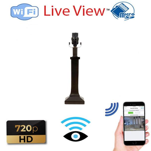 Black Lamp WiFI Hidden Nanny Security Camera Live Streaming Video