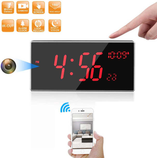 Wi Fi Clock Hidden Spy Camera - 33FT Night Vision -Support Motion Detection 160 Degree Angle