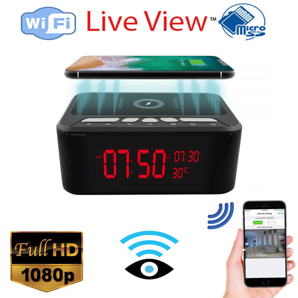 HD 1080P Wireless Charger and Speaker Security Wi-Fi Camera (In Stock 8-10)