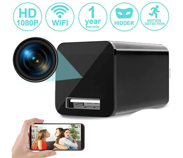 Phone Charger Hidden Spy Camera WiFi HD 1080P -  With Live Streaming Video