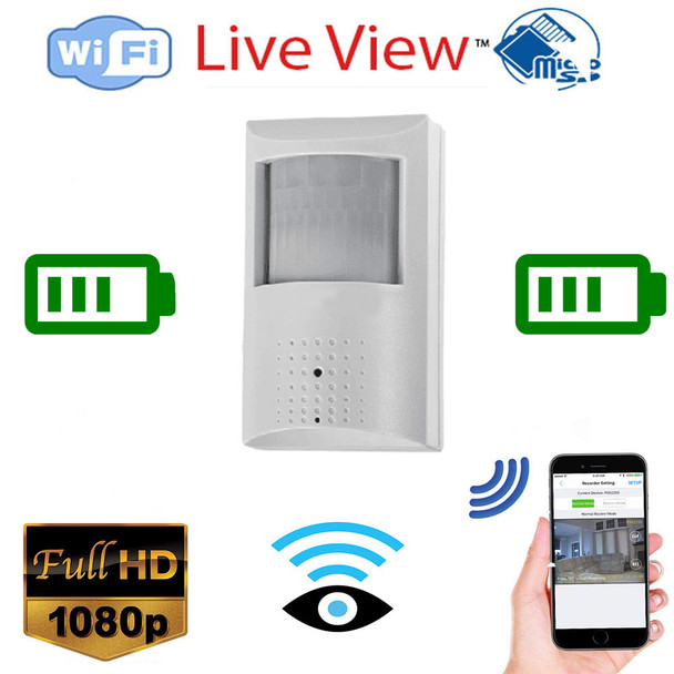 1080P Long Battery Life WiFi PIR Motion Sensor Security Camera with 30 Day Battery W/Night Vison Available ( BSC-PIR1080P-30)