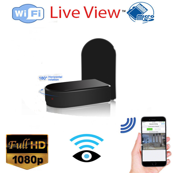 1080P Mini Black Box WiFi Camera W/ 180 Pan and Zoom