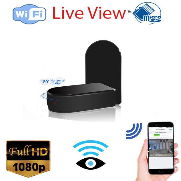1080P Mini Black Box WiFi Camera W/ 180 Pan and Zoom