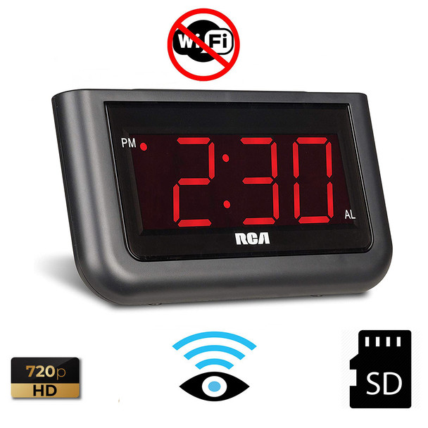 Alarm Clock Radio DVR Series Hidden Camera with Super Wide View Camera and No Pinhole