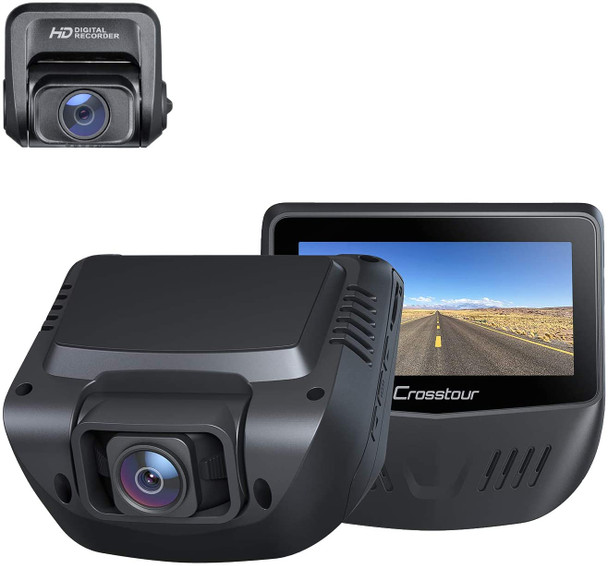 """Dash Cam, 1080P Car Camera Front and Rear, 170° Wide Angle Driving Recorder for Cars Optional GPS, 3"""" LCD, HDR, Support 128GB, Supercapacitor, Motion Sensor, G-Sensor, Loop Recording"""
