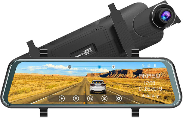 Mirror Dash Camera for Cars - 10'' Backup Camera 1080P Dual Dash Cam Front and Rear Stream Media Touch Screen DVR with Sony IMX307 G-Sensor Parking Monitor 32 GB SD Card (DL9)