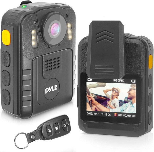 Police Security Video Body Camera - HD 2304x1296p 36MP Rechargeable Wireless Waterproof Wearable Law Enforcement Surveillance Cam, Audio Video Recording, Night Vision, Motion Detector