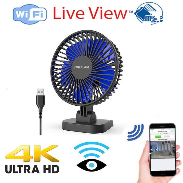 UHD 4k WiFI P2P USB Desktop Fan Hidden Spy Camera W/ Live View WiFi + Dvr