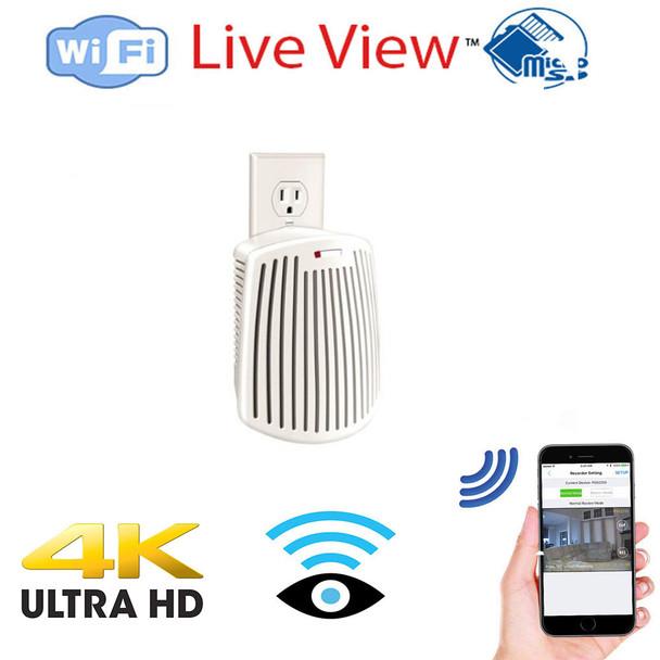 UHD 4k WiFI Air Freshener Hidden Spy Camera W/ Live View WiFi + Dvr