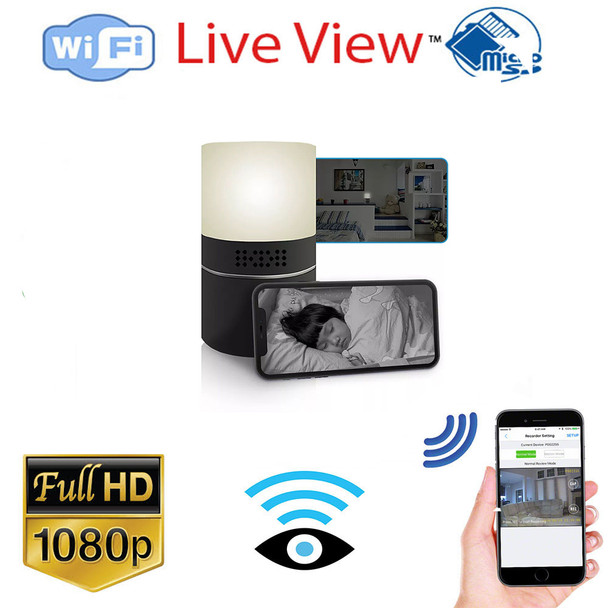HD 1080P Desk Lamp Hidden Spy Wi-Fi Camera W/ Live Streaming Video