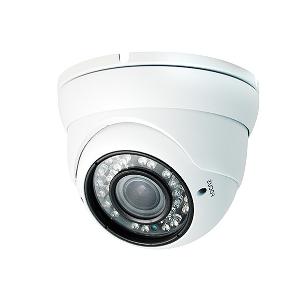4-in-1 Analog/TVI/CVI/AHD 2 MegaPixel Outdoor White Zoom Dome Security Camera
