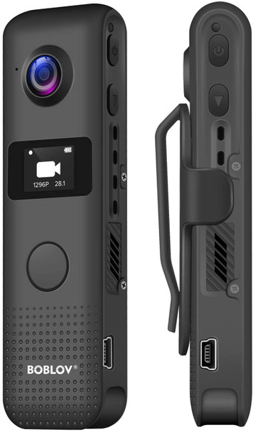 WiFi Small Body Camera, 32GB Hidden Camera, 1296P Mini Camera Body Worn Camera with OLED Screen 3.5 Hours 1080P Recording Support WiFi One Big Button for Recording (Built-in 32G)