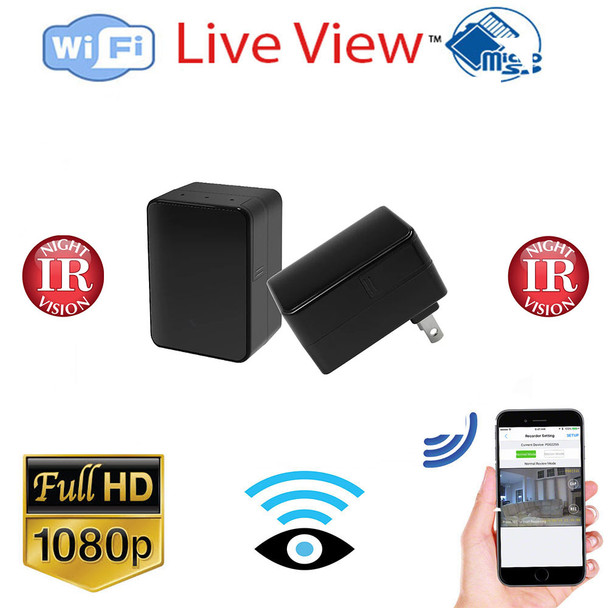 1080P USB Phone Charger WiFi IP Hidden Spy Camera with Night Vision