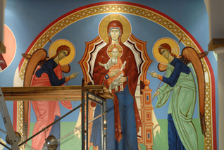 Icons in the Pensacola Orthodox Church
