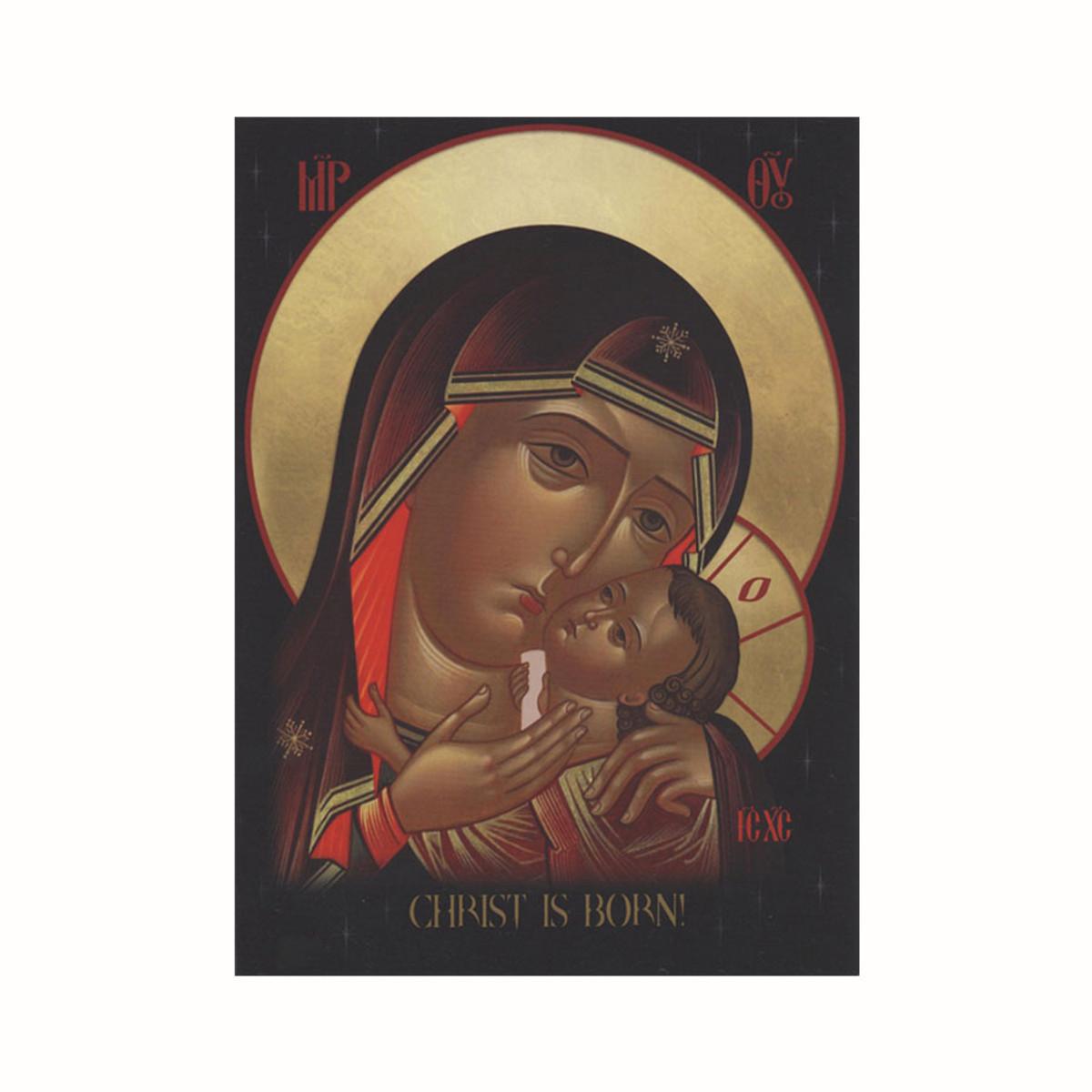 Christmas Iconography.Motherly Embrace