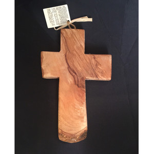 olive wood cross - large 8""