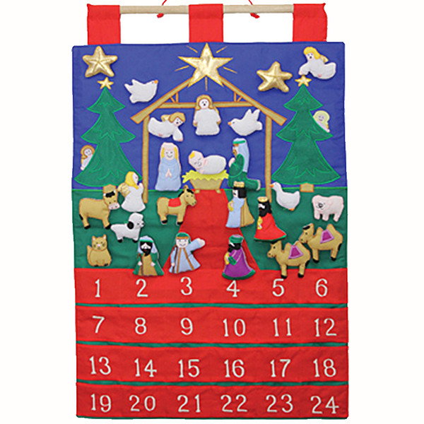 "Advent Calendar in Fabric ""Tidings of Joy"""
