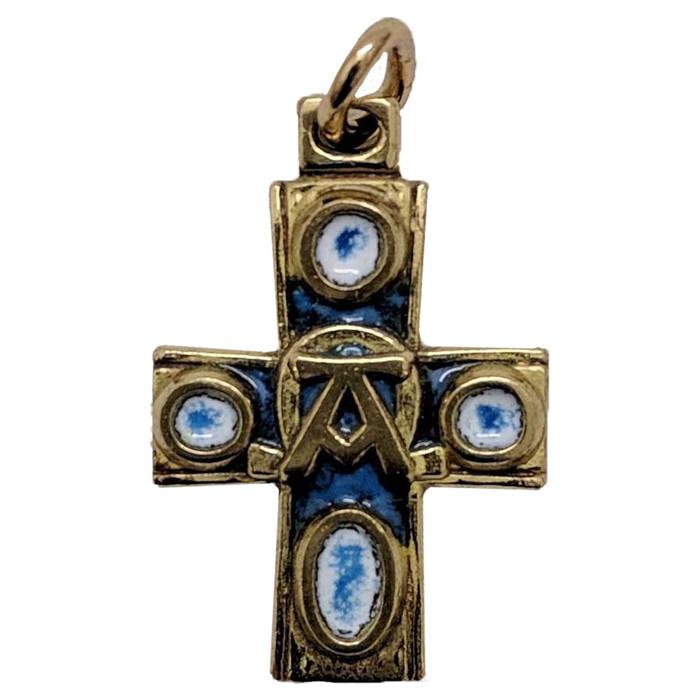Alpha Omega Cross Pendant