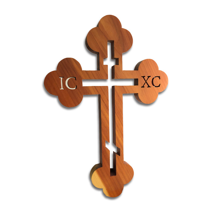 Wall Cross - Cedarwood