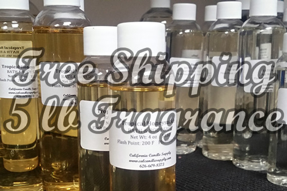 Free Shipping with 5 lbs of Fragrance