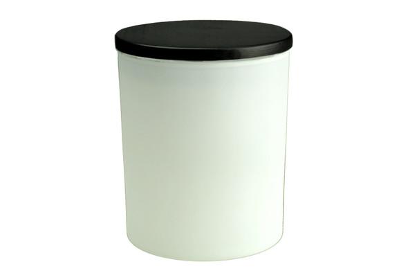 13.5 oz Matte White Cali Jar w/Lid