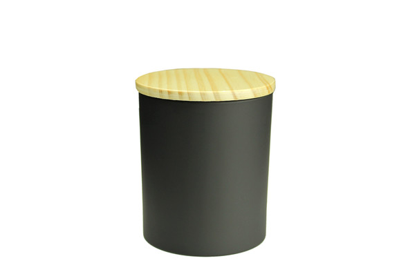6 oz Matte Black Cali Jar w/Lid
