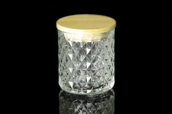 8 oz Clear Textured Matte Jar W/Lid