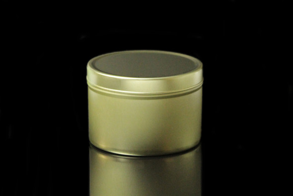 8 oz Gold Tin w/Lid