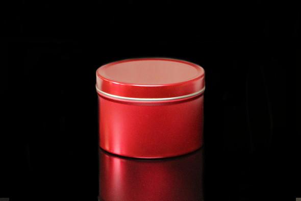 8 oz Red Tin w/Lid