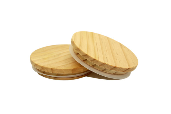 3 15/16 x 3/4 x 3 3/8 Natural Wood Style Lid