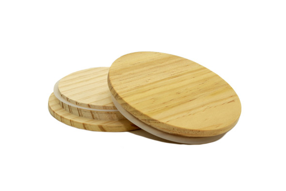 14 oz Natural Wood Style Marquis Lids