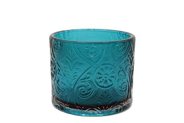 14 oz Aqua Marquis Glass - No Lid