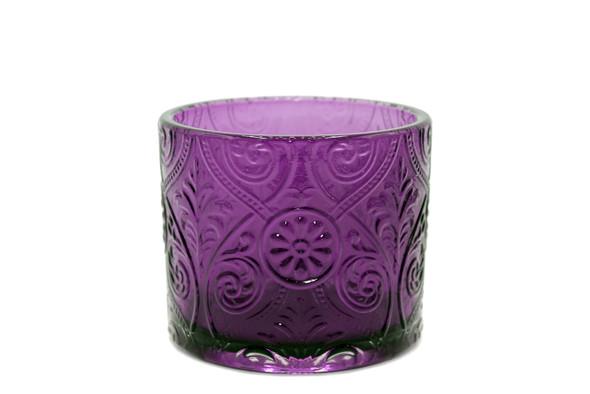 14 oz Purple Marquis Glass - No Lid