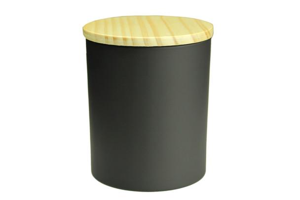 13.5 oz Matte Black Cali Jar w/Lid
