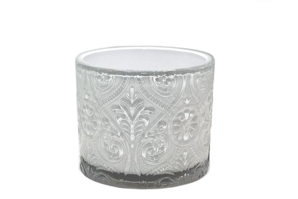 14 oz White Gloss Marquis Glass - No Lid