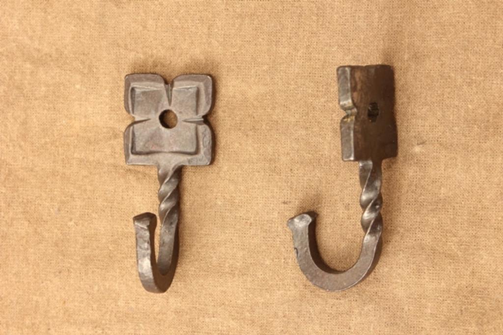 wrought iron rosette hooks