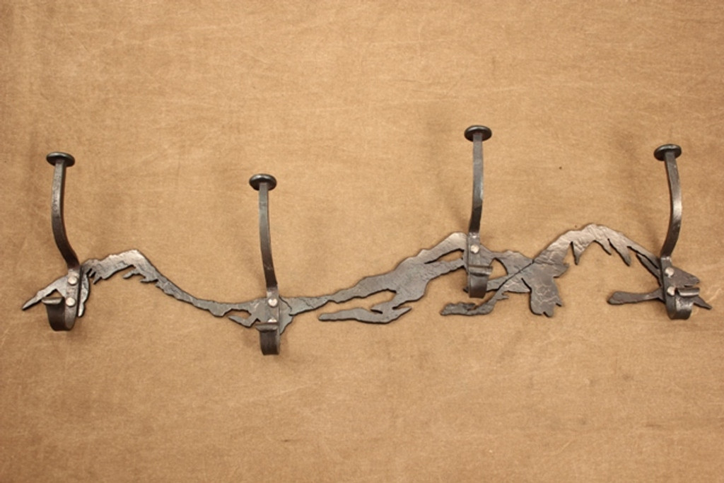 4-hook Three Sisters Mountains coat and hat rack