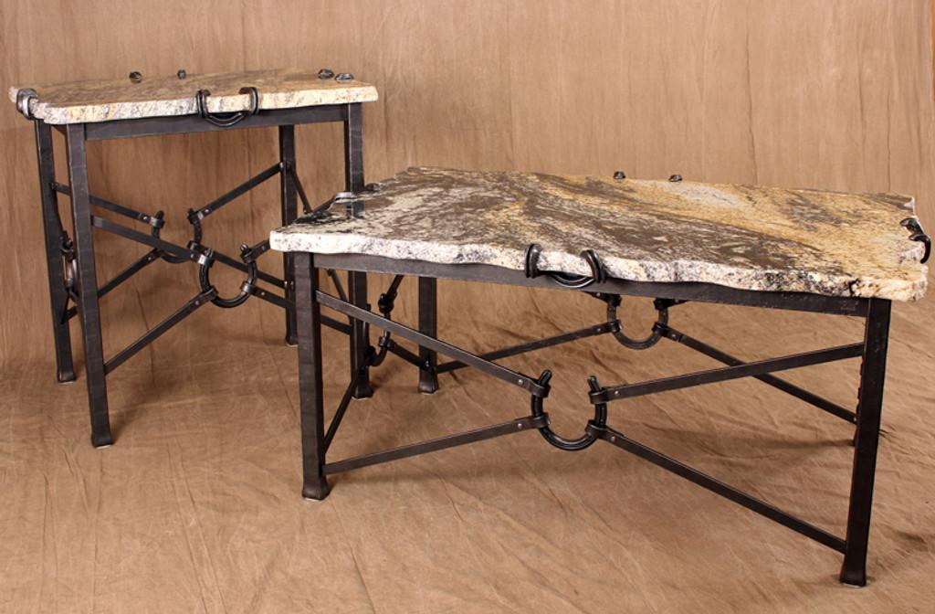 wrought iron horseshoe tables