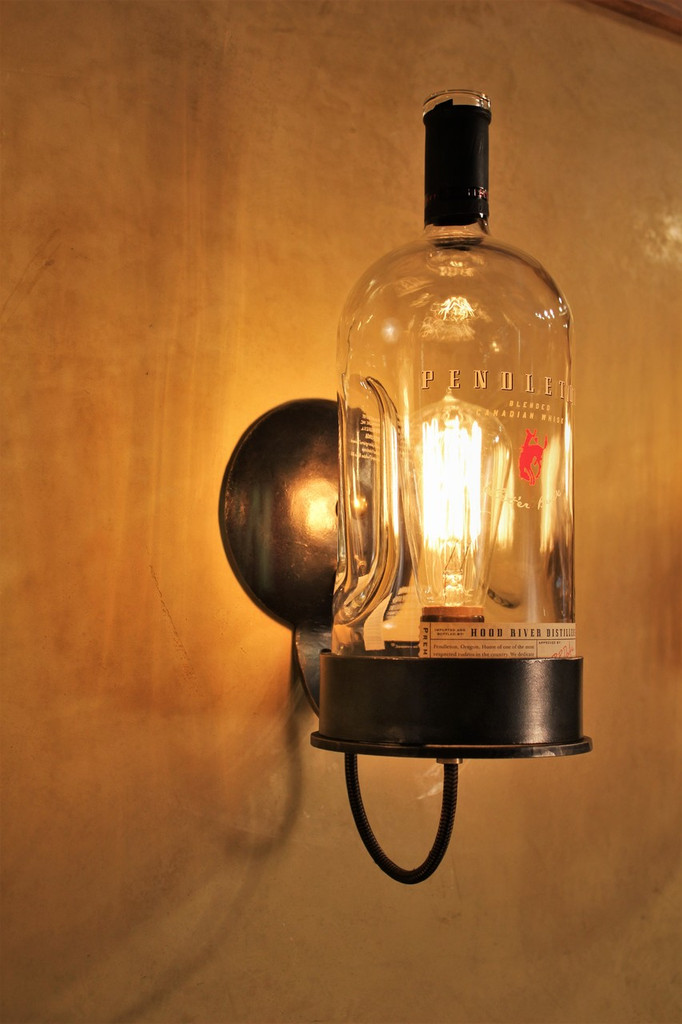 Whiskey Bottle Wall Light