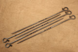 Wrought iron shish kabob skewer - set
