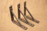 Wrought iron square bar gusset shelf bracket